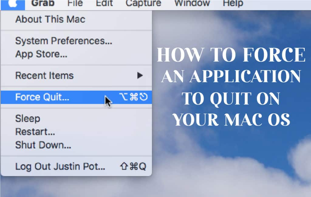 How To Force Quit An App On Mac