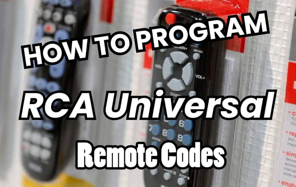 Rca Universal Remote Codes