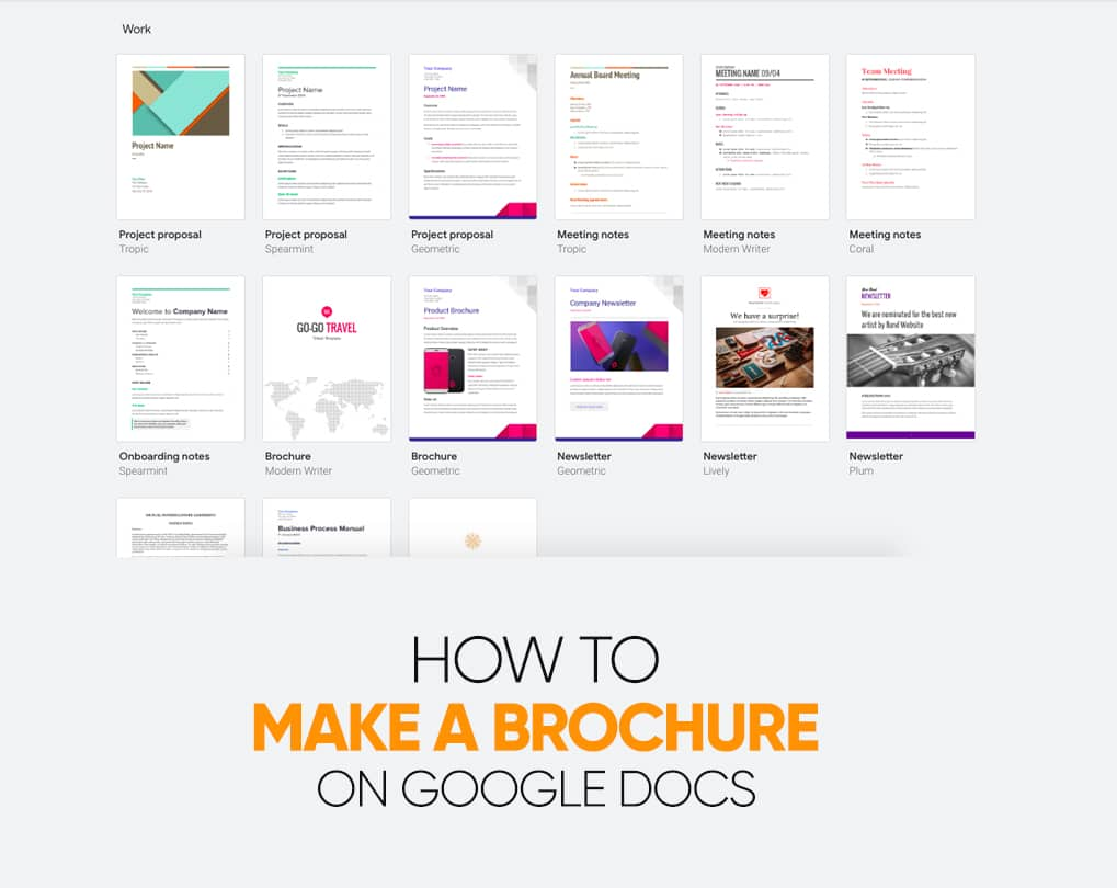 How To Make A Trifold Brochure On Google Docs