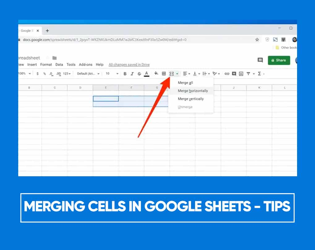 How To Merge Two Cells In Google Sheets