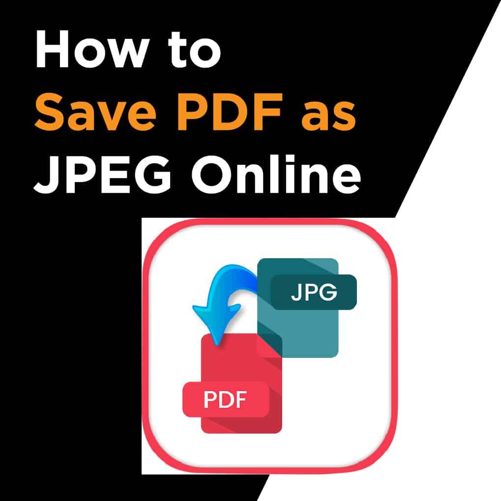 How To Save A Pdf As Jpeg