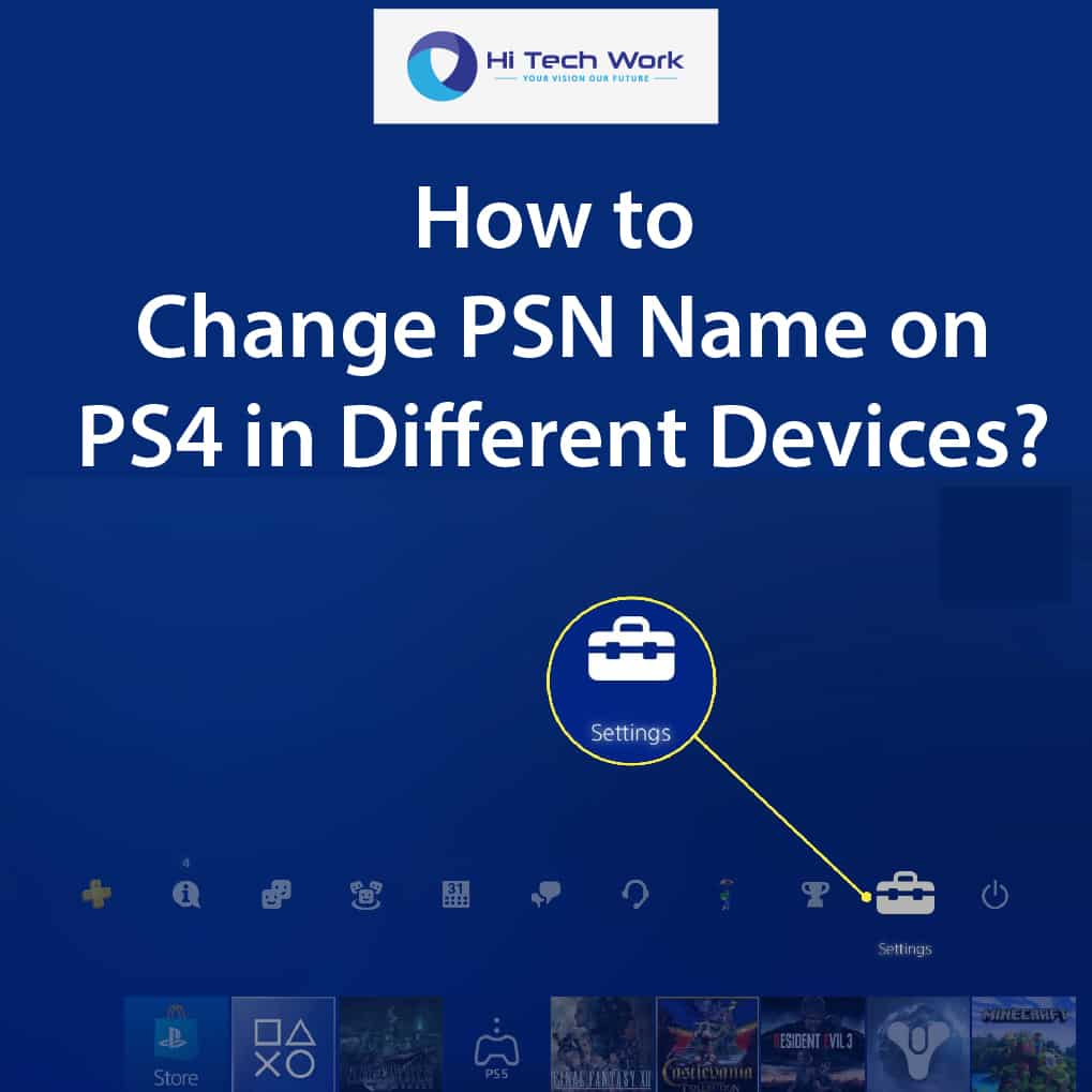 how to change your name on psn
