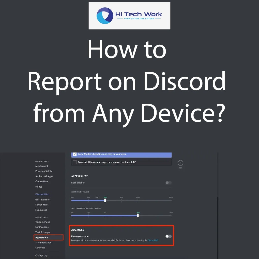 how to report people on discord