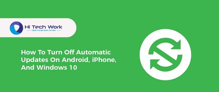 How To Turn Off Automatic Updates Iphone