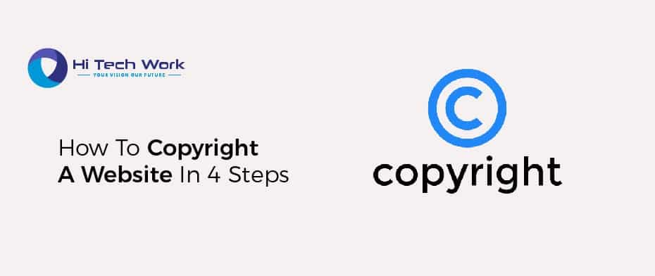Copyright A Website In 4 Steps