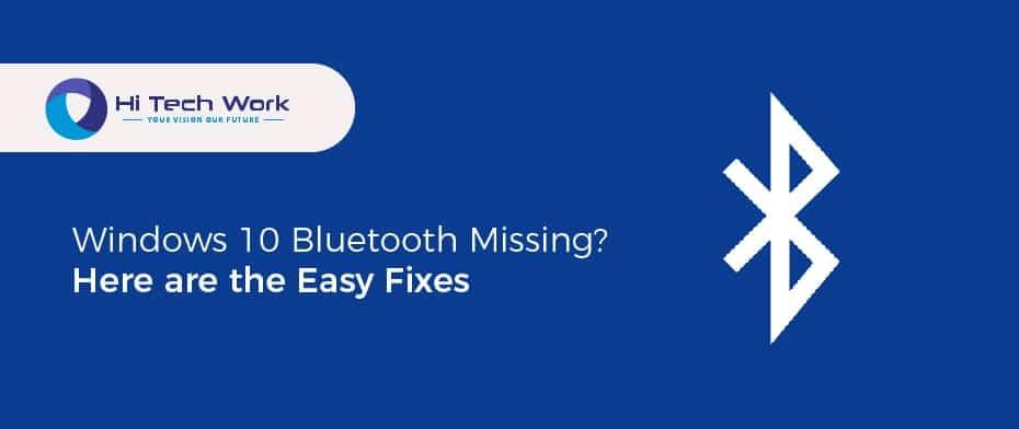 Windows 10 Bluetooth Driver Missing