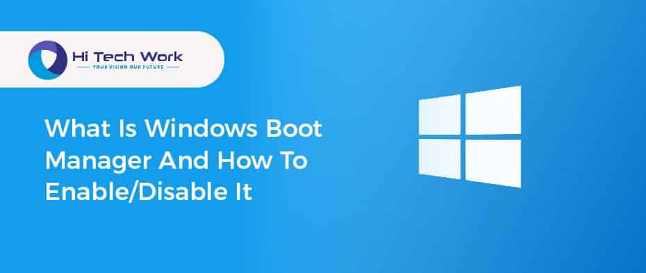 boot manager windows 10