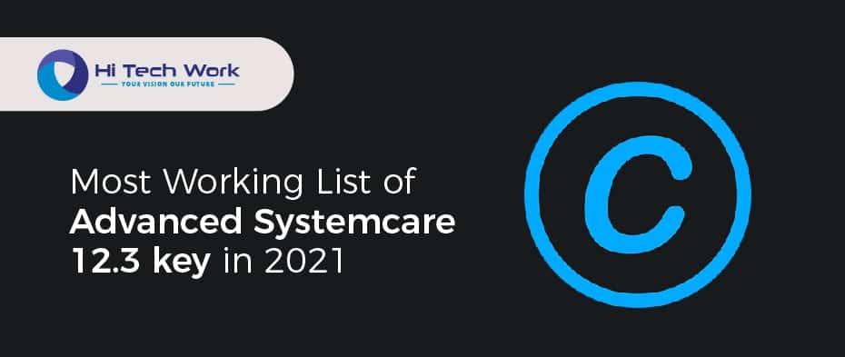Advanced Systemcare 12.3 Pro Key