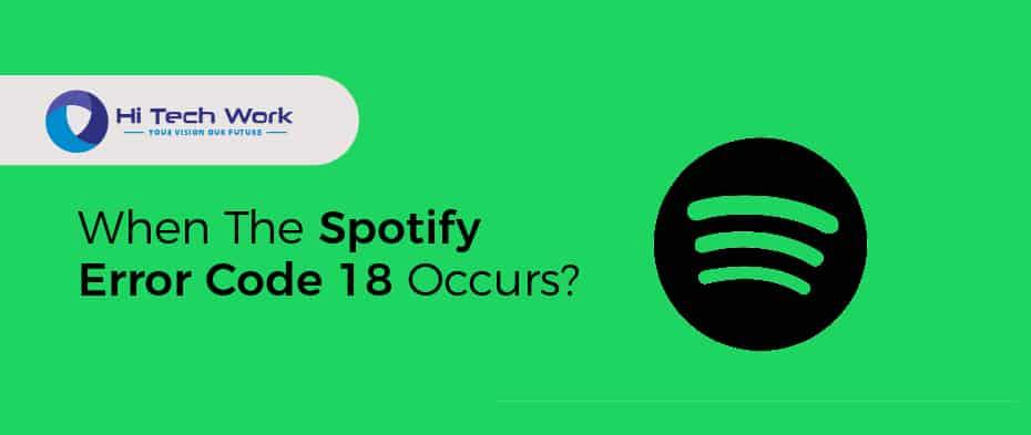 Error Code 18 Spotify