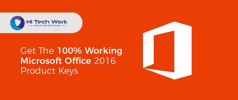 Microsoft Office 2016 Product Keys