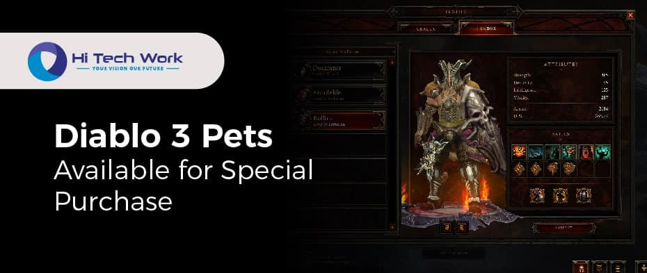 Diablo 3 What Do Pets Do