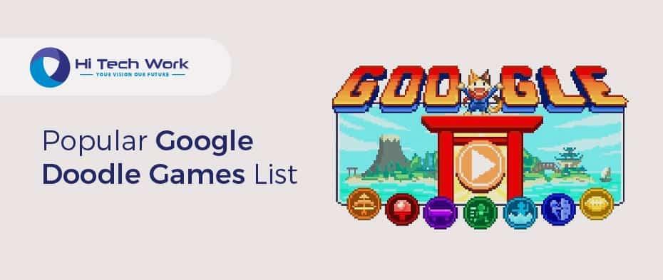 popular google doodle games amazon